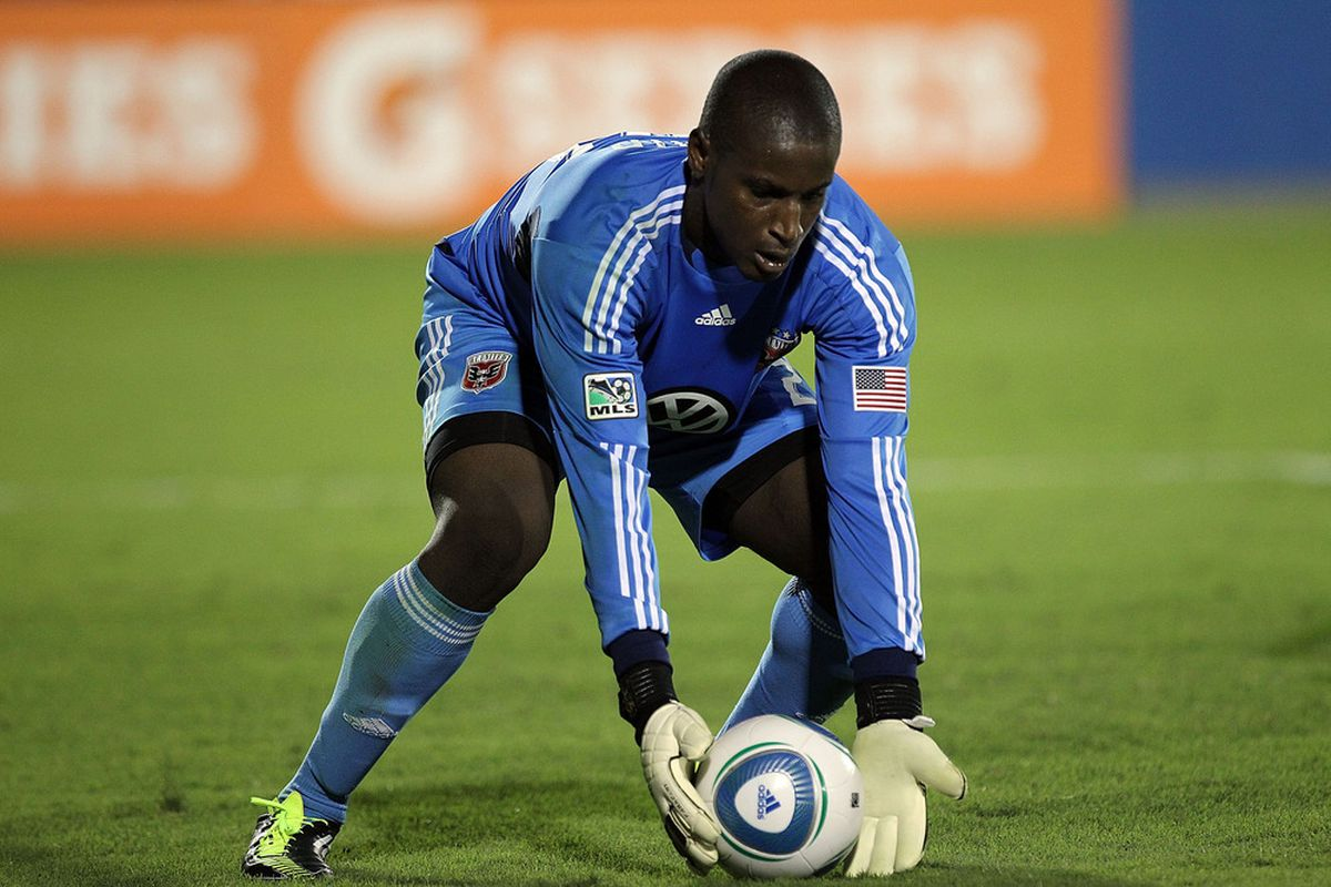 Yea I'm straight up out of new photos to show, enjoy D.C. United keeper Bill Hamid  (Photo by Ronald Martinez/Getty Images)
