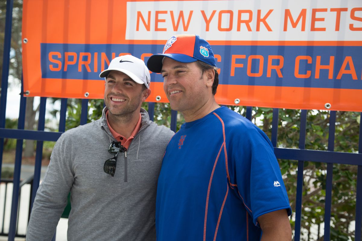 Mike Piazza and David Wright at Spring training with New...
