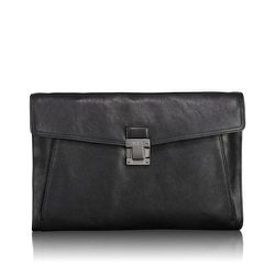 """<strong>Tumi</strong> Charles Leather Portfolio in Black <a href=""""http://www.tumi.com/product/index.jsp?productId=12737611&prodFindSrc=search"""">$295</a>"""