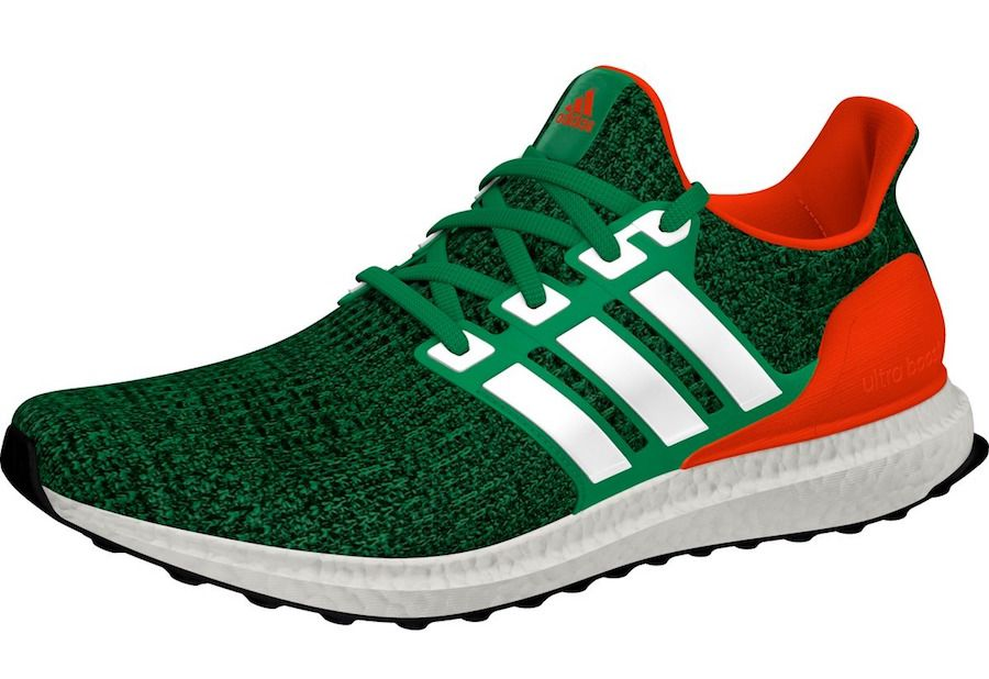 wholesale dealer 0b165 ee7c8 adidas ultra boost 4.0 Miami Hurricanes PE sneaker bar detroit