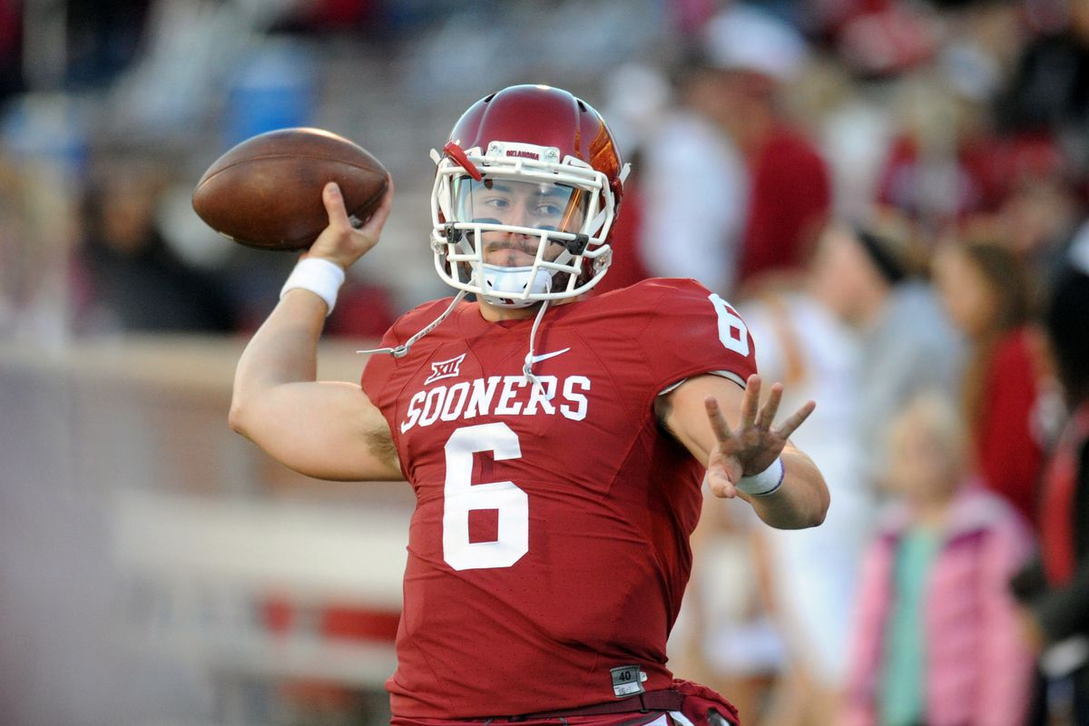We don't have any stock photos of Riley, so here's Okahoma quarterback Baker Mayfield, whom Riley oversees as offensive coordinator/quarterbacks coach.