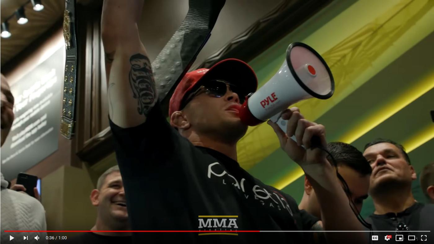 Megaphone-wielding Colby Covington crashes UFC 235 open workouts, taunts Kamaru Usman