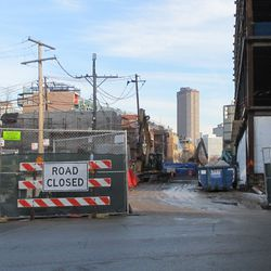 View looking west on Waveland -