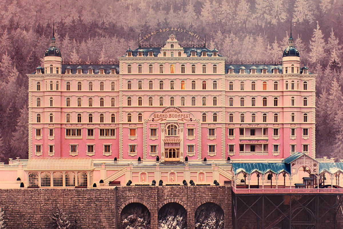 A miniature model of the Grand Budapest Hotel. All photos courtesy of Fox Searchlight