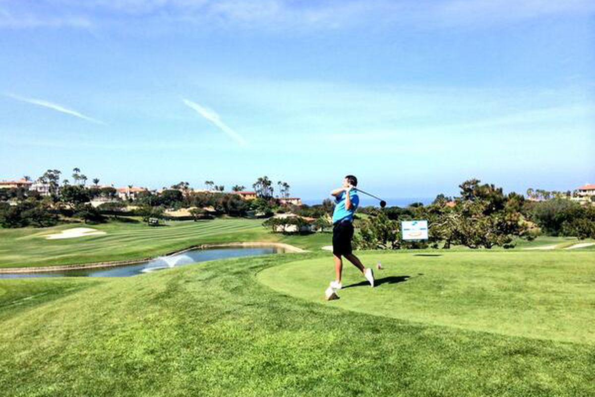 UCLA Coach Steve Alford Goes Looking for a PG on the golf course.