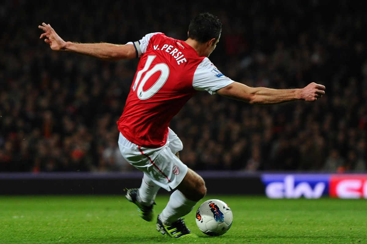 this is a random picture of Robin van Persie scoring a goal
