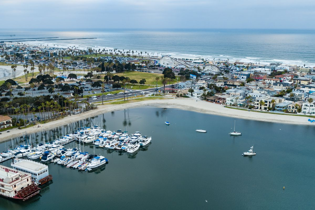 Bahia Resort's dock and marina