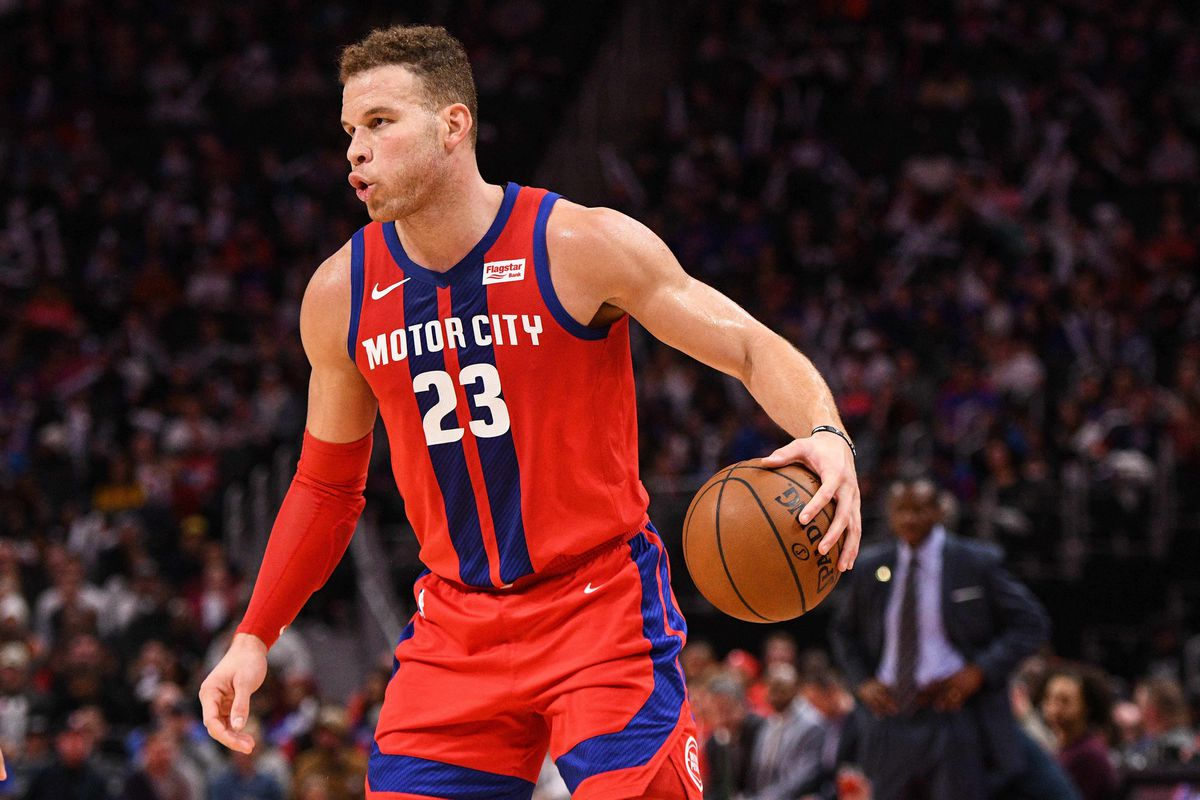 Detroit Pistons forward Blake Griffin during the game against the Washington Wizards at Little Caesars Arena.