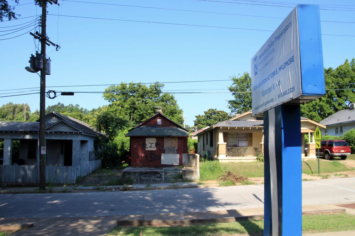 Neighborhoods in South Memphis surround Memphis Delta Preparatory Charter School, which opens in August through Shelby County Schools.