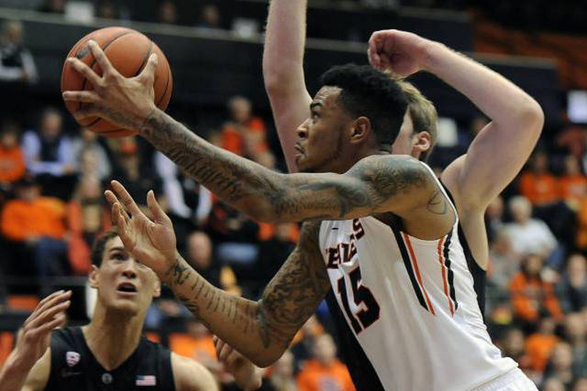 Eric Moreland had a strong all around game to lead Oregon St. past Stanford.