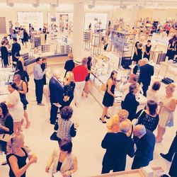 The crowd of shoppers at Nordstrom's charity gala.