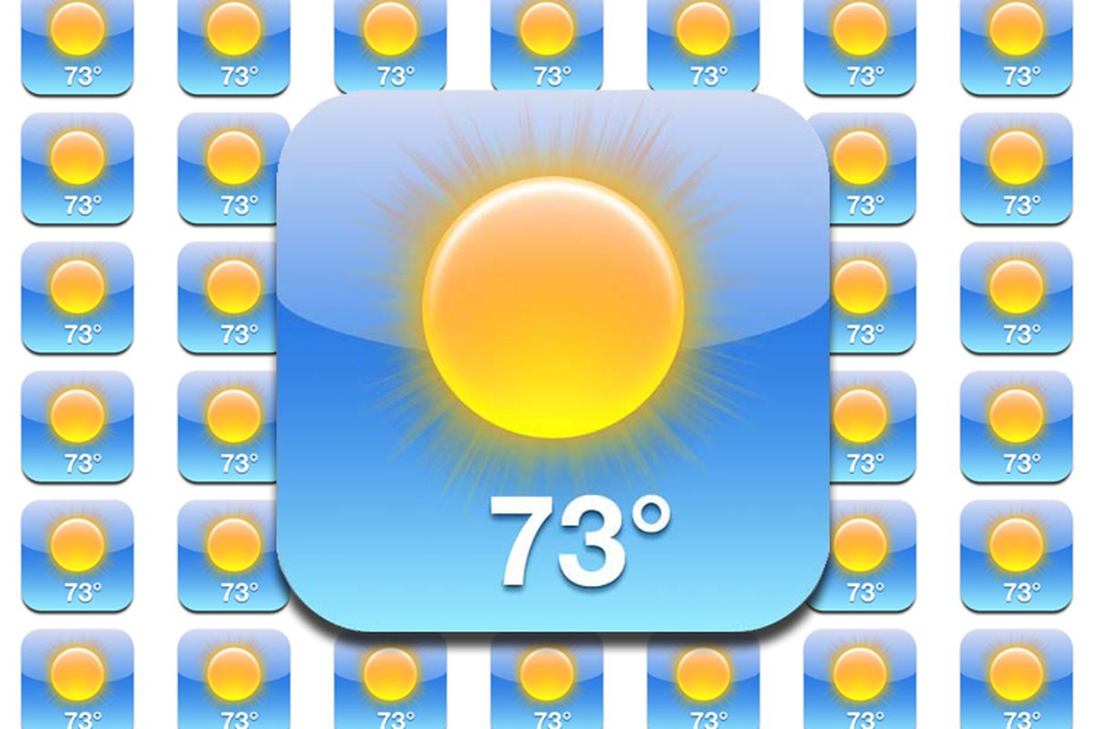 The Iphone 5 Forecast A Predictable 73 Degrees And Sunny The Verge