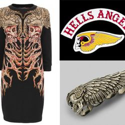 The Alexander McQueen dress, ring, and the emblem being debated