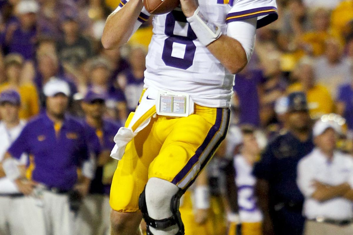 Take heart, LSU fans. Big things are yet to come for no. 8. Mandatory Credit: Derick E. Hingle-US PRESSWIRE