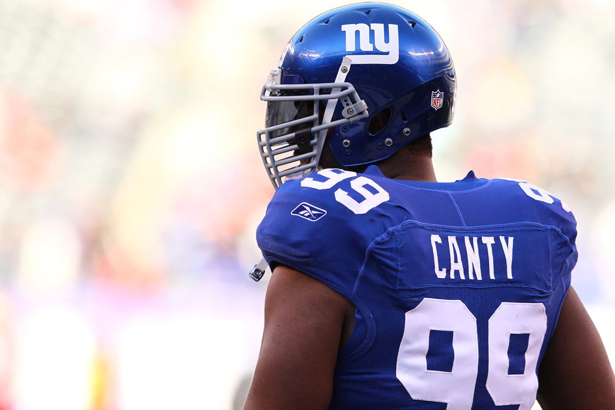 Will we see Chris Canty in uniform for the first time this season on Sunday?