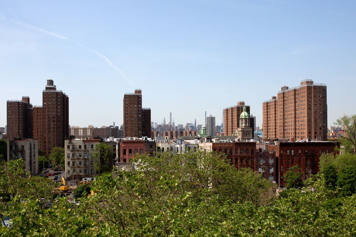 Mott Haven in the South Bronx has a mix of public and private residential buildings, May 20, 2021.