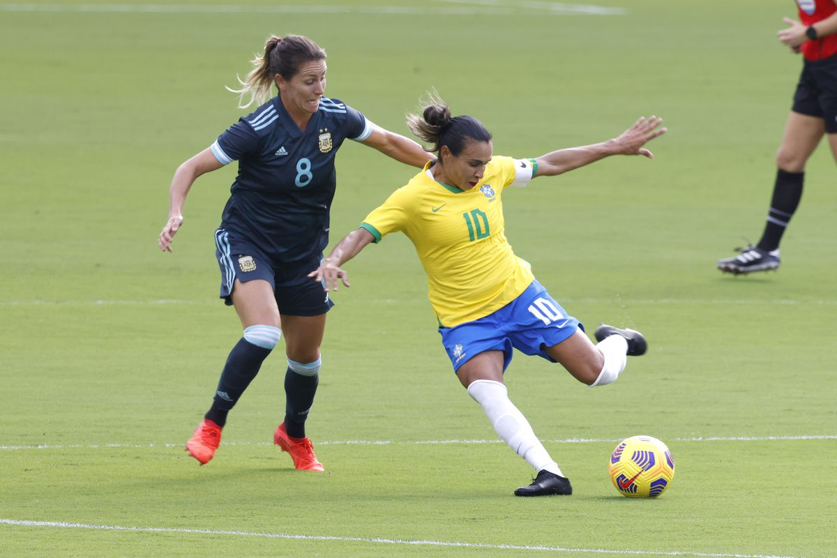 Soccer: She Believs Cup Women's Soccer-Argentina at Brazil