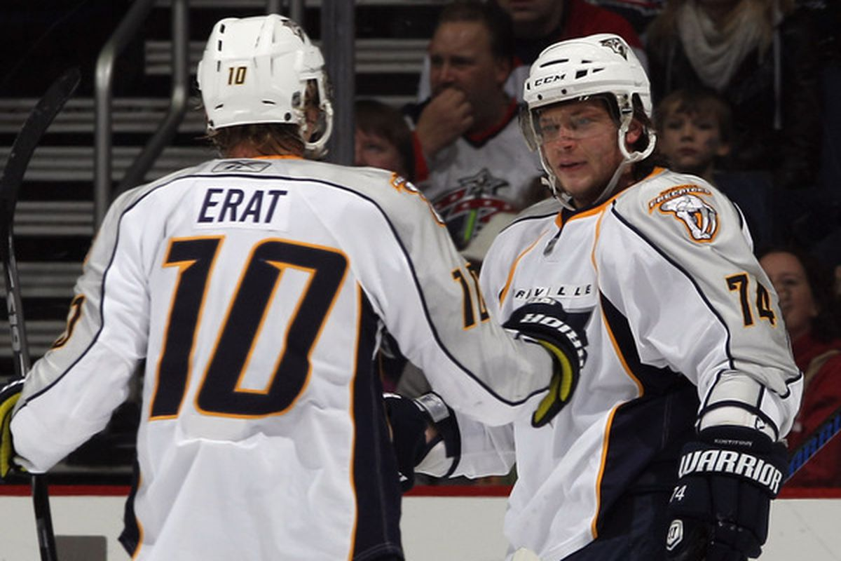 Have the Predators finally assembled a dangerous second scoring line with Martin Erat & Sergei Kostitsyn on the wings?