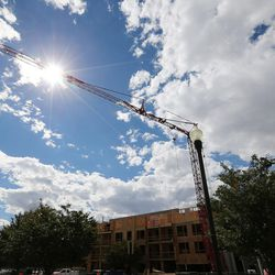 Construction continues on the Alta Gateway Station Apartments in Salt Lake City on Thursday, Sept. 29, 2016.