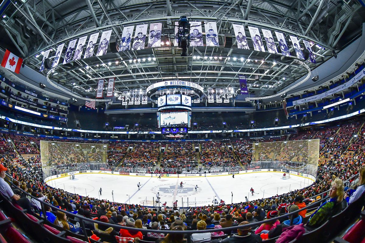 CWHL All-Star Game 2016 panoramic view, Air Canada Centre, Toronto