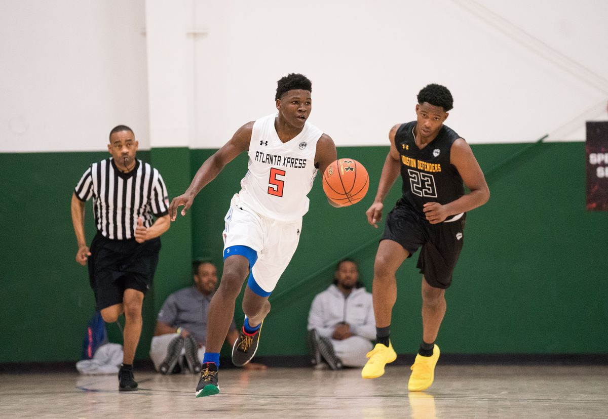 Anthony Edwards at an Under Armour Association event in Dallas on April 22, 2018.