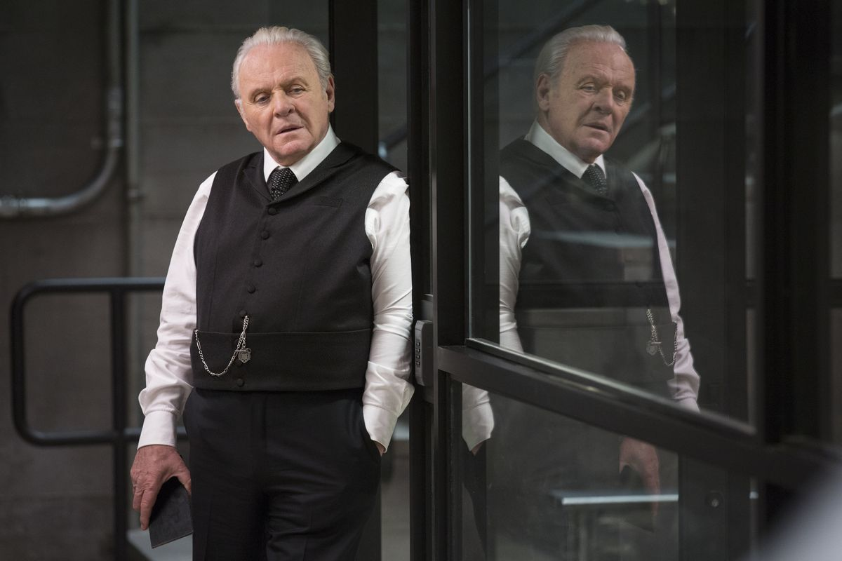 Anthony Hopkins as Robert Ford in Westworld.