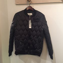 Quilted bomber jacket, $84