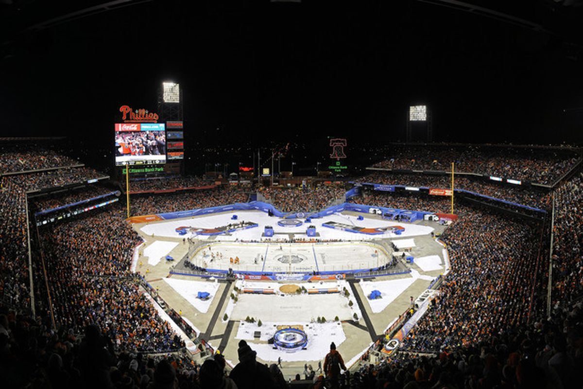 Last season's Winter Classic was played at Citizen's Bank Park in Philadelphia.