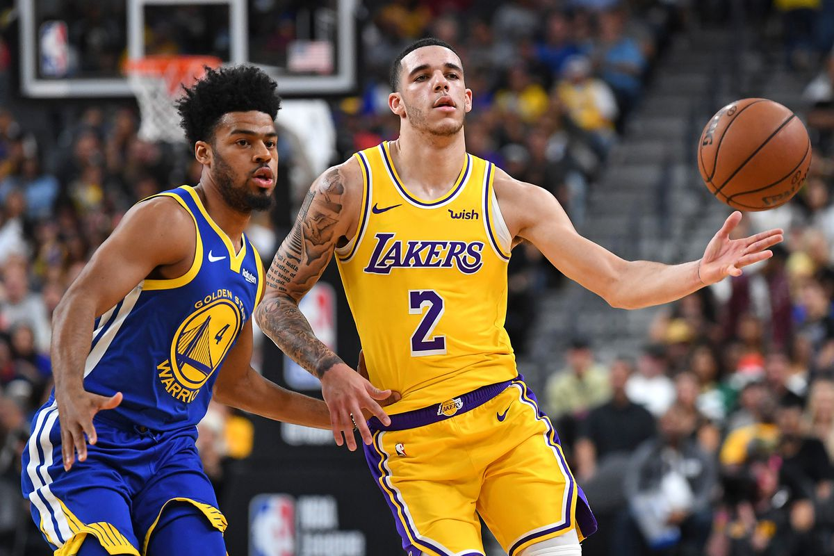 big sale 9dfe6 7ffef LeBron James says 'it's great' to have Lonzo Ball back with ...