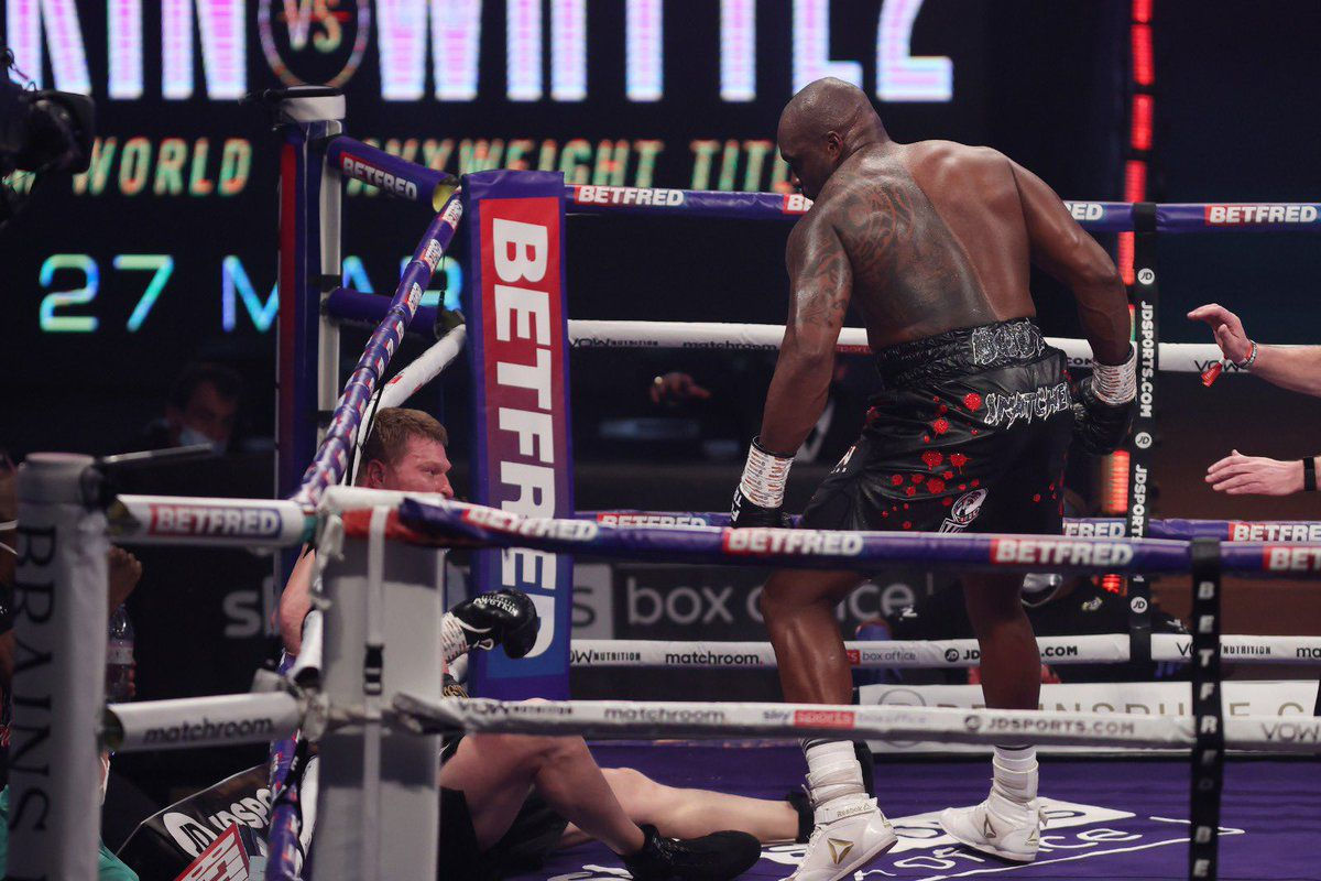 Dillian Whyte drops Alexander Povetkin in their rematch