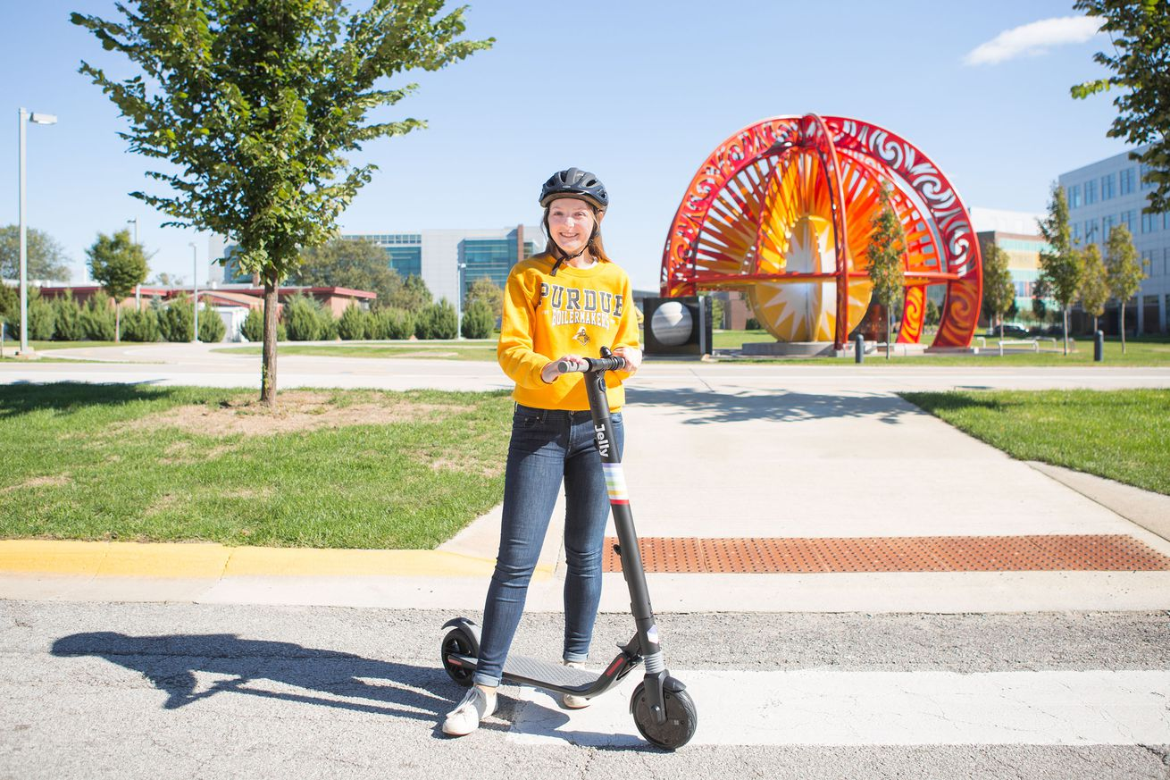 meet jelly the new electric scooter science project run by ford