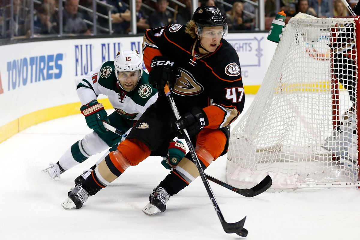 Hampus Lindholm had a goal and an assist in the Ducks first win of 2015-16.