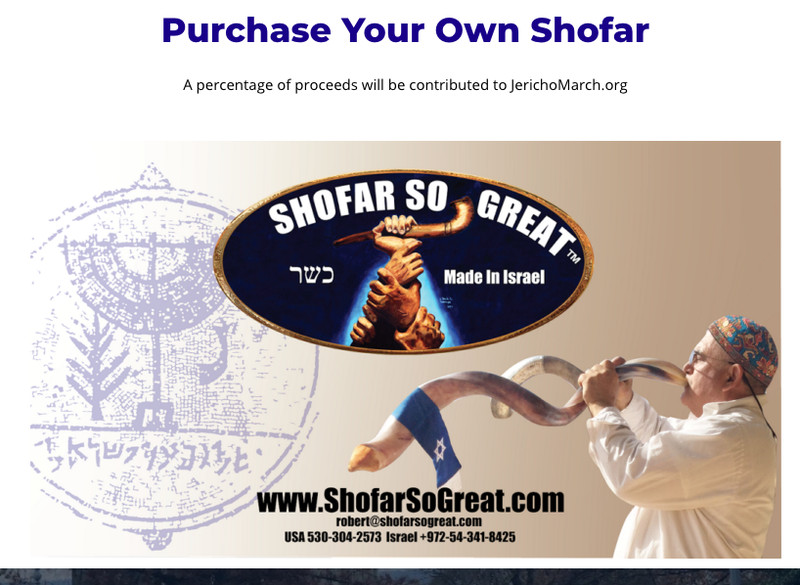 "An ad for shofars from a company called ""Shofar So Great"""
