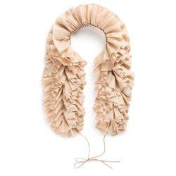 Ruffian Women's Silk Ruffle Scarf (nude), $95