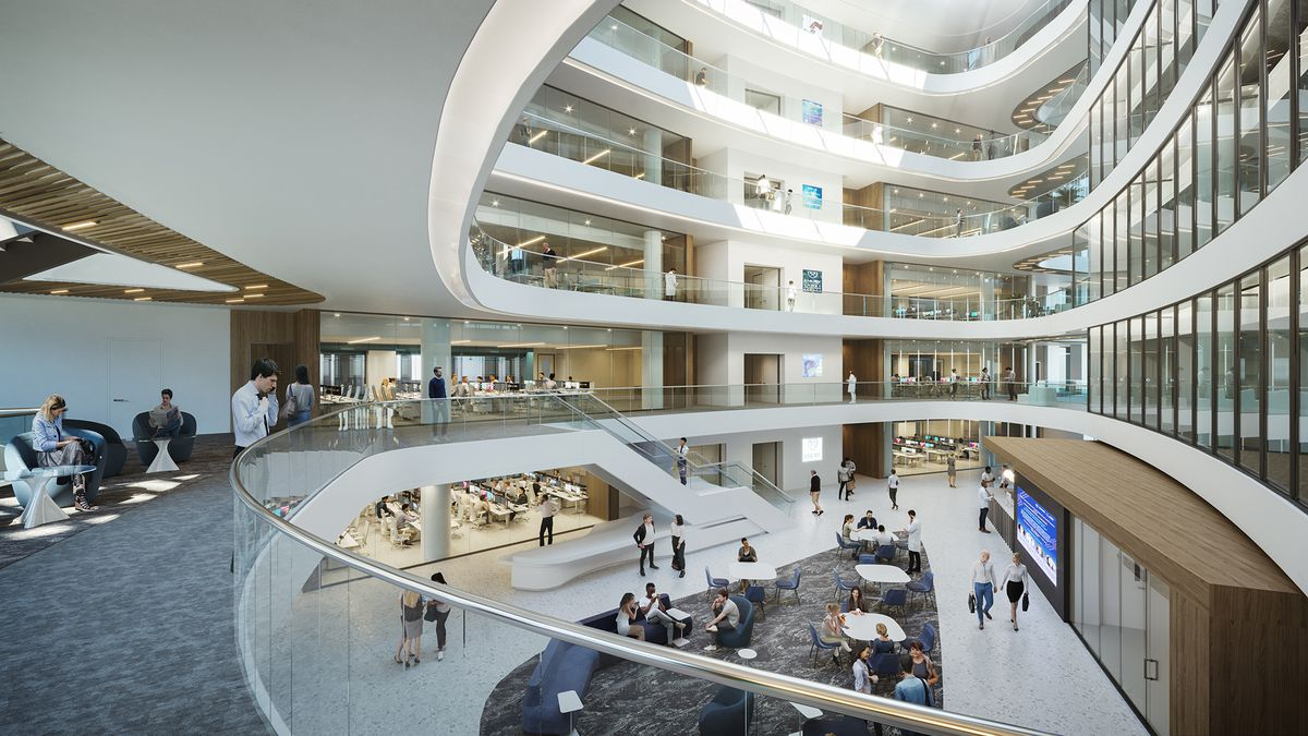 Another rendering of the rotunda.