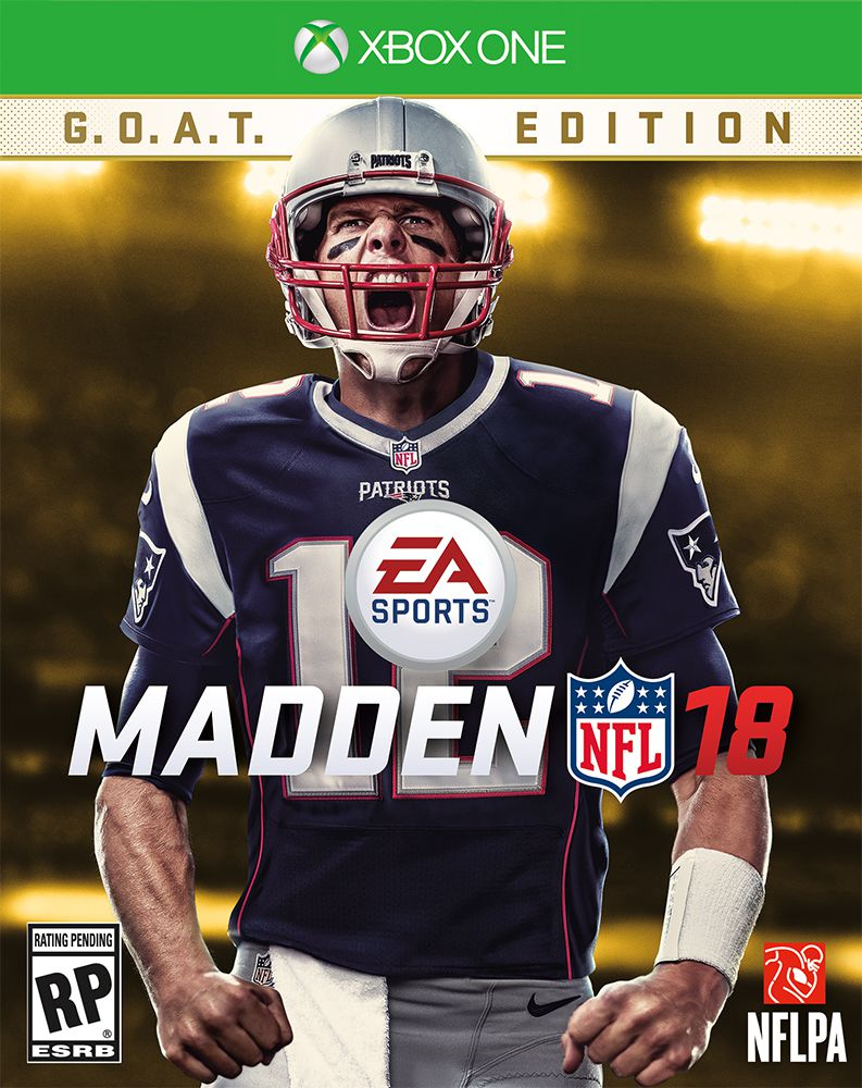 sale retailer 2b8fd 9c17b Tom Brady is on the cover of 'Madden 18: G.O.A.T. Edition ...