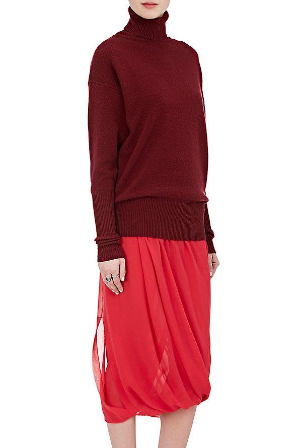 Victoria Beckham Chiffon Midi-Skirt, $1,995