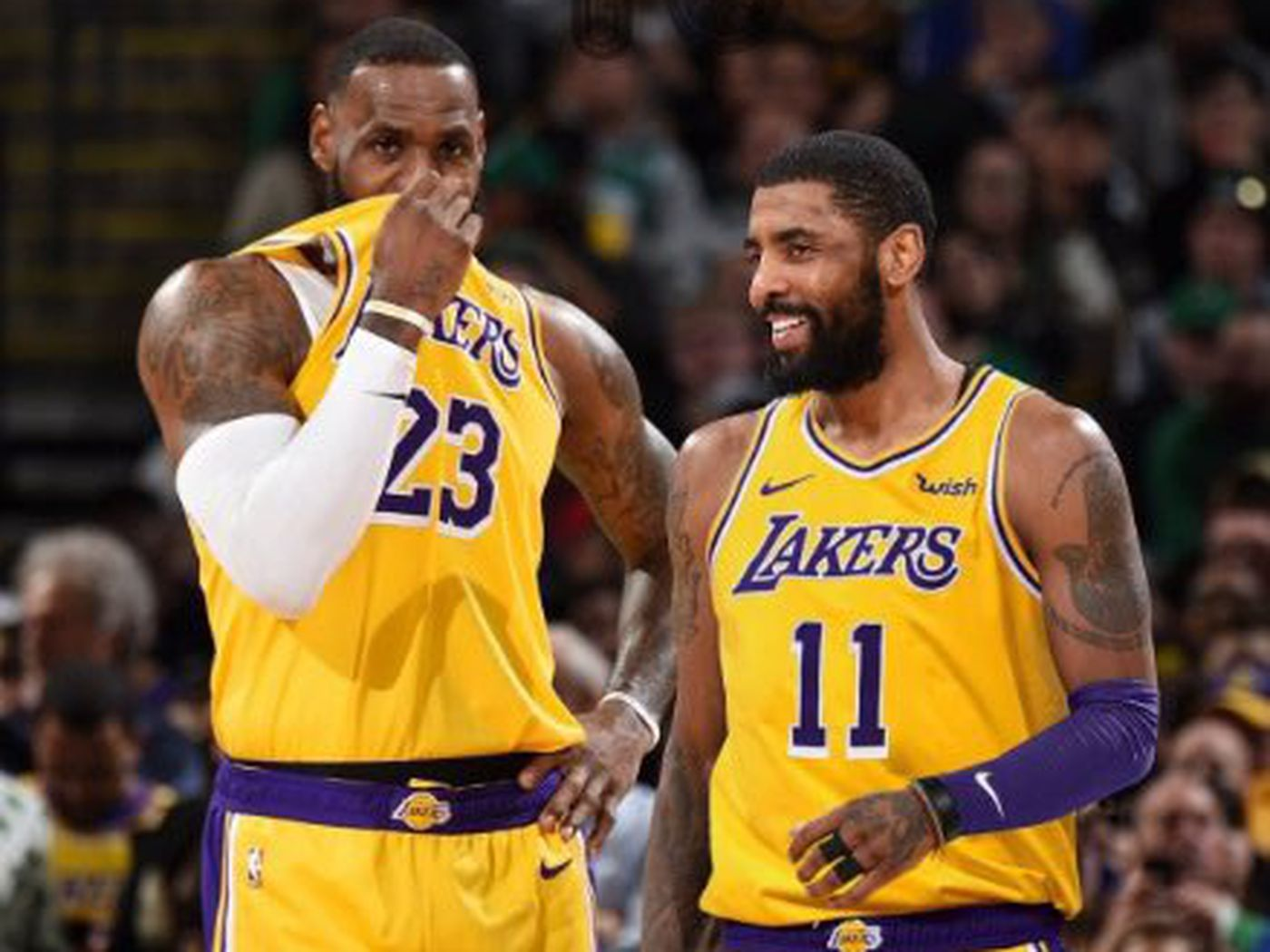 promo code 4a1df 24a4c Lakers Free Agency Rumors  Kyrie Irving  is considering  L.A., LeBron James  is trying to recruit him - Silver Screen and Roll