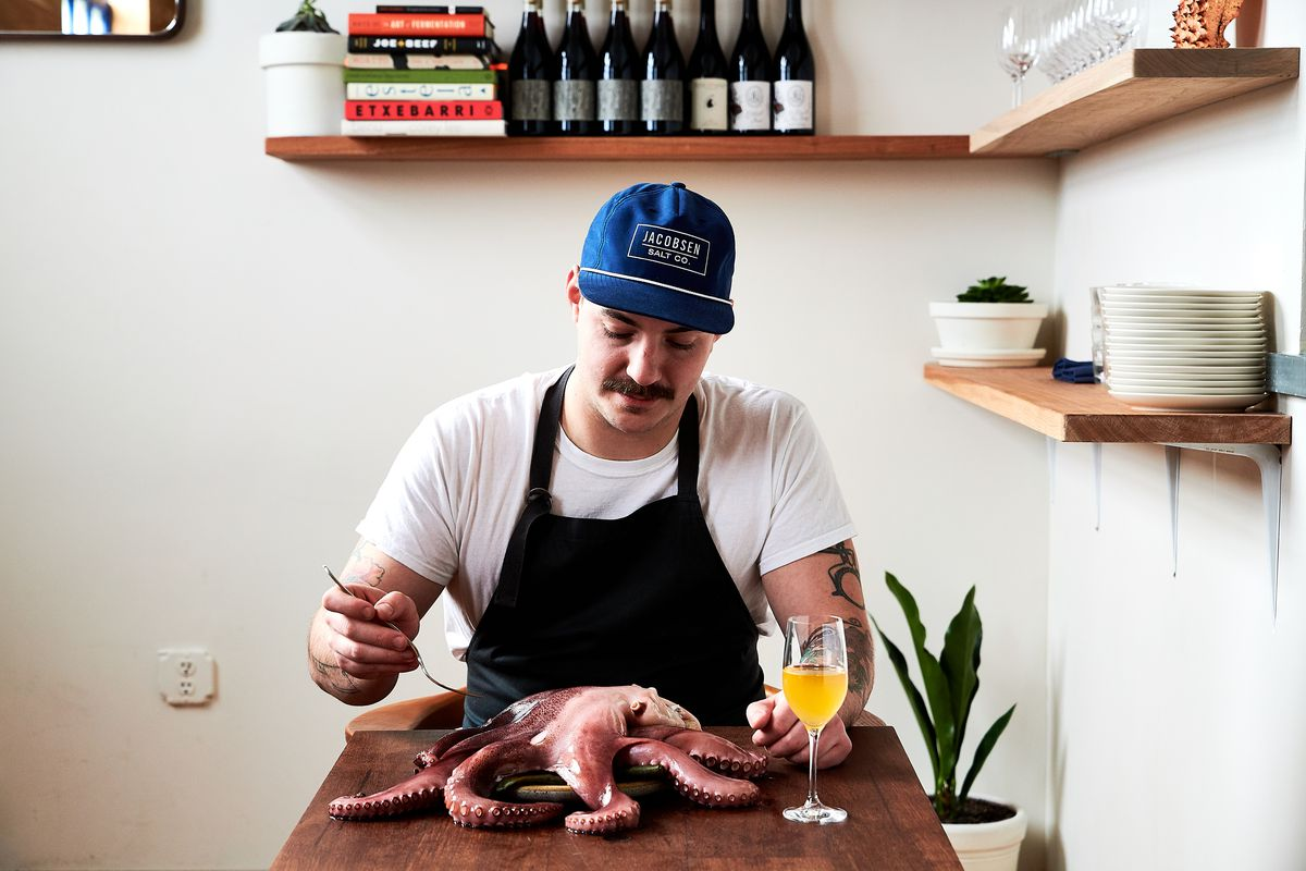 Jacob Harth sits down to an octopus at the restaurant Erizo