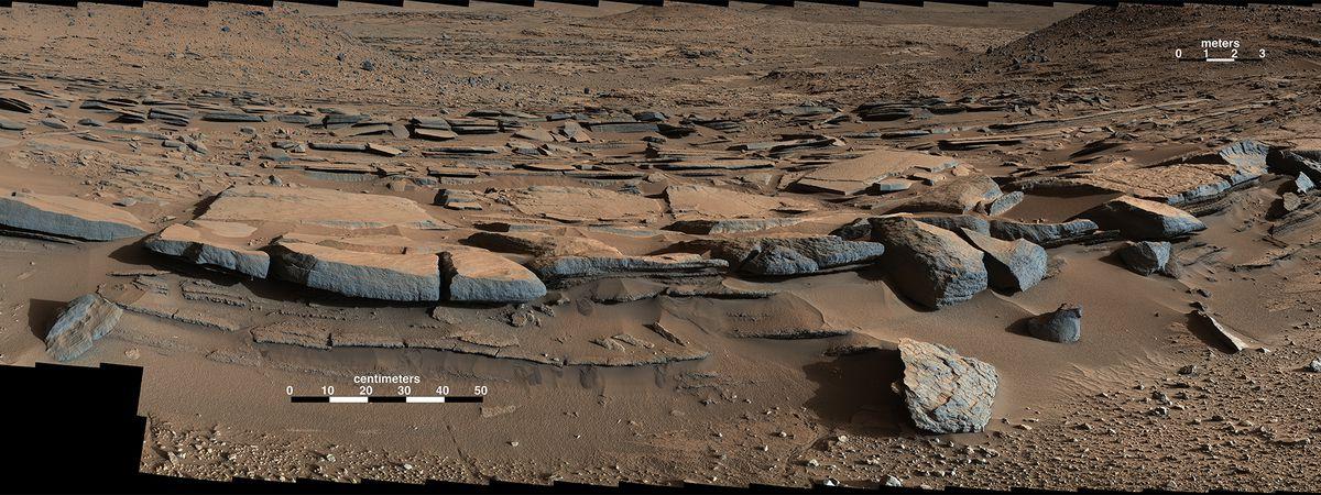 Mars Gale Crater Lake sediments