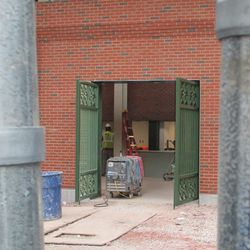 A view into the left-field lower concourse -