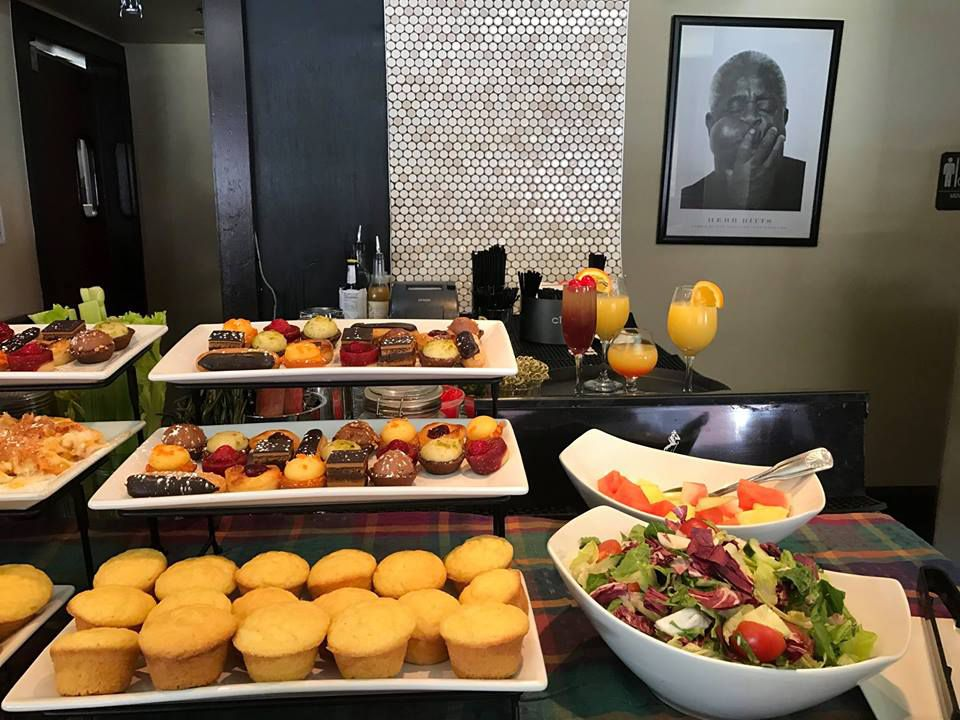 Part of the brunch spread at Darryl's