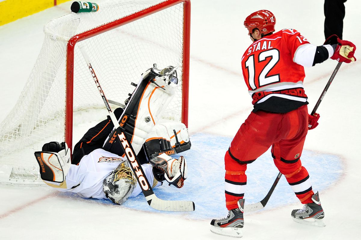 I assume this was a save...because Staal didn't score
