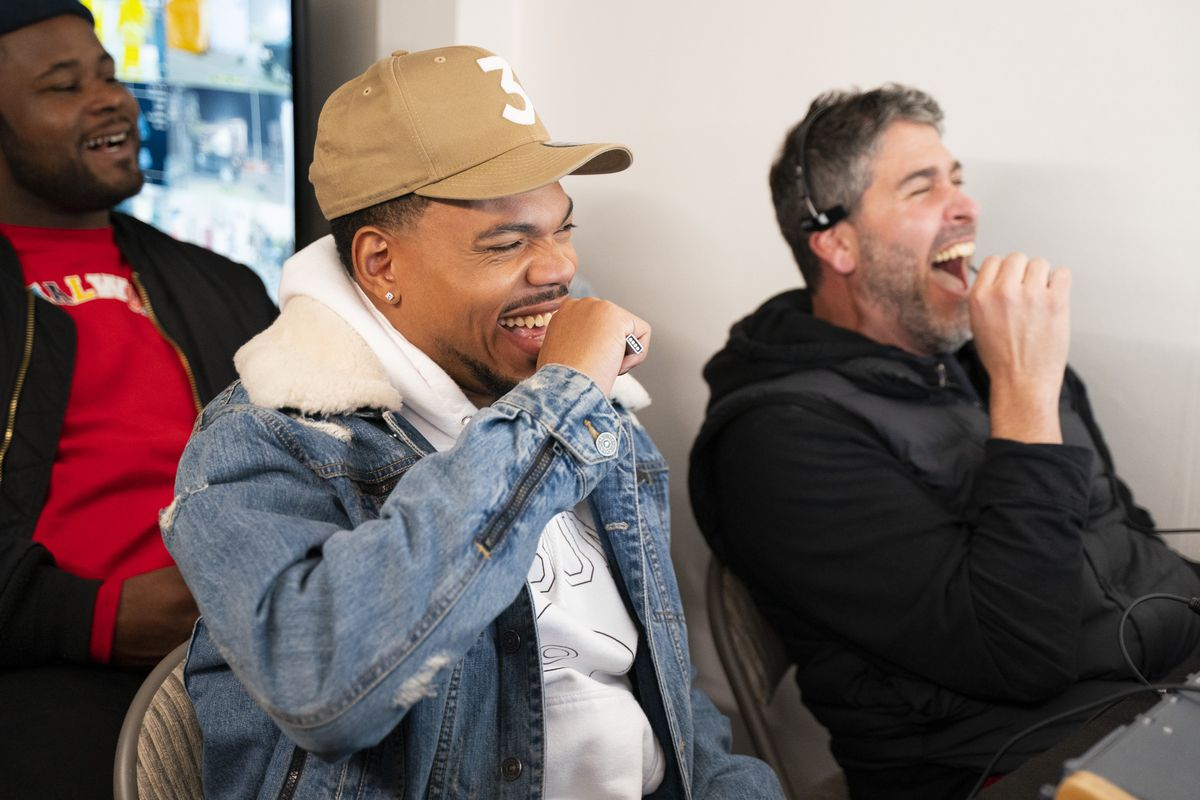 """Chance the Rapper and his production crew react to one of the many hidden-camera pranks on the upcoming series of the Quibi series """"Punk'd."""""""