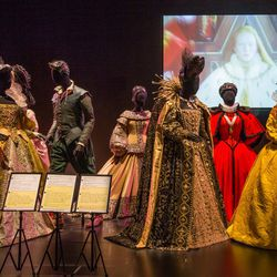 """The exhibit opens with act """"One: Deconstruction,"""" which explores the link between costume design and characters' identities."""