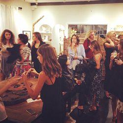 Celebs, stylists and editors raiding Aiche's studio.