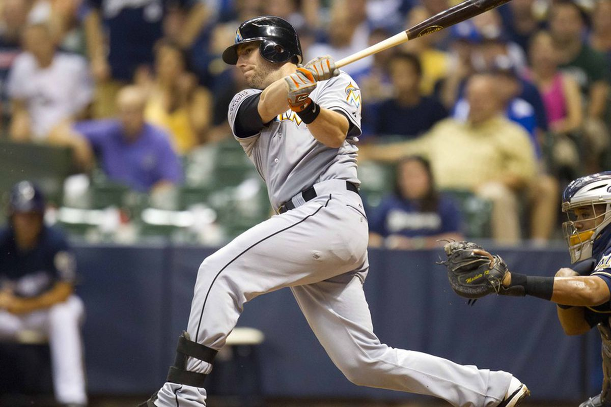 At the age of 30 and 3300 minor league at bats, Justin Ruggiano has exploded on the National League with a vengeance -   Mandatory Credit: Jeff Hanisch-US PRESSWIRE