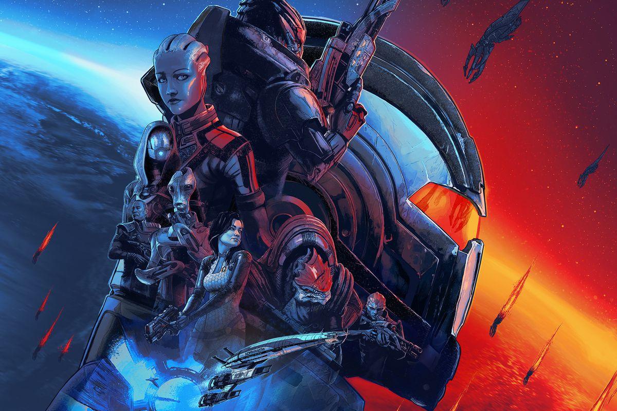 The key art for Mass Effect Legendary Edition