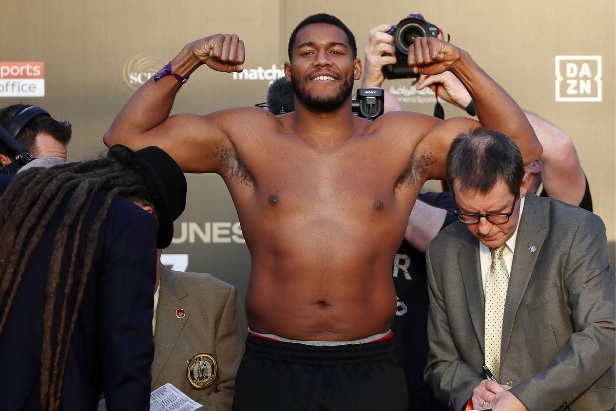Weigh-in ceremony ahead of Povetkin vs Hunter