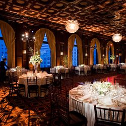 """<a href=""""http://JuliaMorganBallroom.com"""">Julia Morgan Ballroom</a>, 465 California Street, San Francisco, (415-591-1833): From the amazing ceiling to the carpet that reflects it, this 15th-floor setting in the heart of downtown San Francisco provides com"""